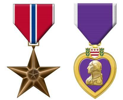 Bronze star & purple heart